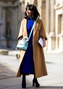מעיל ארוך שמלה ארוכה