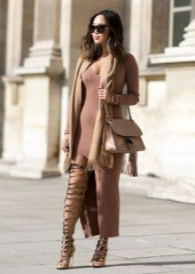 Scarf to a long dress