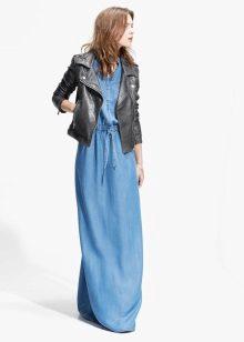 Jaqueta para denim vestido longo