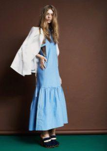 Jaqueta para o vestido longo denim