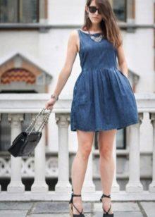 Acessórios para o vestido curto fofo denim