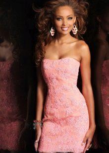 acessórios rosa vestido de noite
