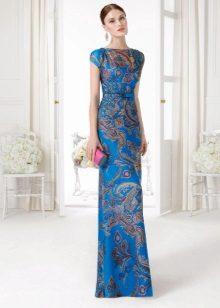 Embreagem para vestido azul