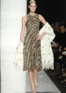 Midi-jurk met stal