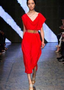 Midi oversize jurk riem