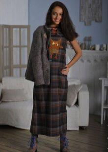 jaqueta de tweed para vestir em uma gaiola