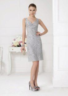 Acessórios para vestido de noite cinza