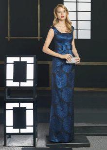 Clutch to dark blue dress