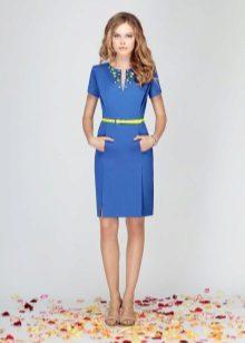 Belt to the blue dress-case