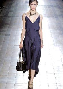 Bag to dark blue dress