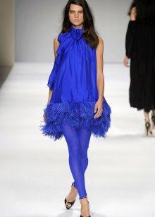 Blue leggings for a blue dress