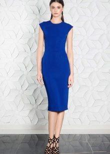 Sandals to a blue dress