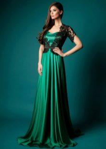 Bolero rendado para um vestido verde