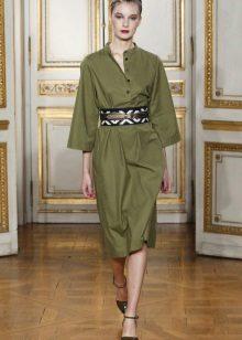 Alça larga para vestido verde
