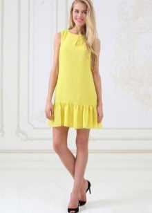 Shoes black to yellow dress