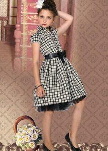 Vestido xadrez escolar para meninas