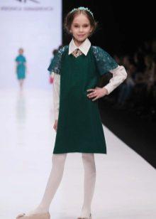 Vestido de escola para meninas verde