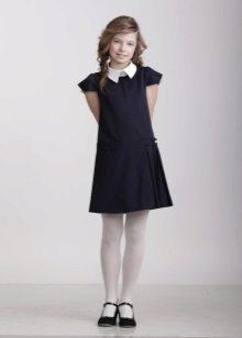 Vestido de escola para meninas com mangas curtas