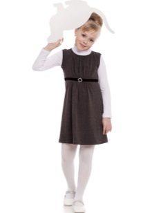 Vestido de escola para meninas cinza