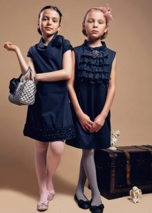 Vestidos escolares para meninas azul