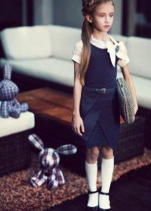 Vestido de escola para meninas sem mangas