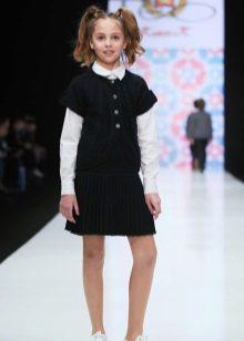 Caso de vestido de escola para meninas