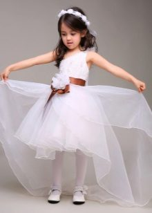 Vestido de formatura branco de transformação para o jardim de infância
