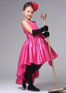 Vestido de baile curto frente longa para trás para o jardim de infância