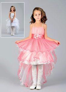 curto vestido de baile de formatura traseiro longo traseiro no jardim de infância