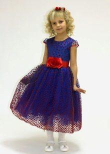 Vestido de formatura no jardim de infância azul escuro