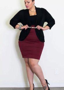 Faldilla de llapis de cintura alta per a dones obeses