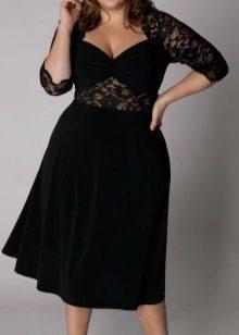 Faldilla trapezoïdal de vellut per a dones obeses