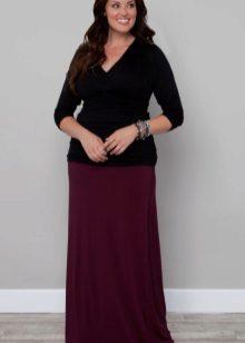 Faldilla de terra recta per a dones obeses