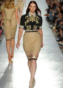 faldilla de llapis per a alta costura femenina