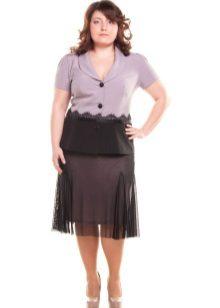 Faldilla de doble capa per a dones obeses