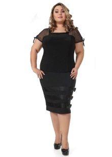 falda de llapis amb llaços per a dones obeses
