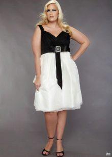 faldilla blanca de vestit de nit per a dones obeses