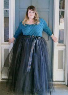 faldilla maxi organza per a dones obeses
