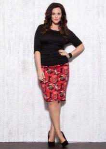 faldilla de llapis per a dones obeses amb estampat floral