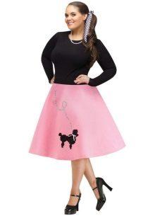 faldilla rosa per a dones obeses
