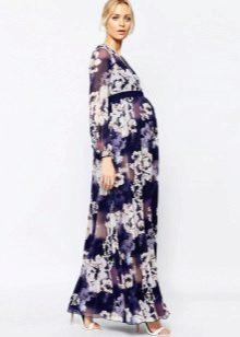 Elegante jurk voor zwangere vrouwen met lange mouwen