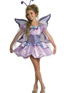 Vestido de ano novo para a borboleta menina
