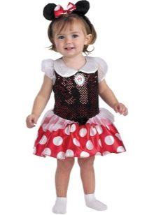 Vestido de ano novo para a menina de 2 anos Mickey Mouse