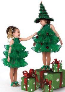 Vestido de Natal para meninas 2 anos Yolochka