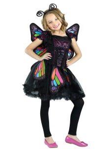 Vestido de Natal para meninas 9 anos de idade borboleta