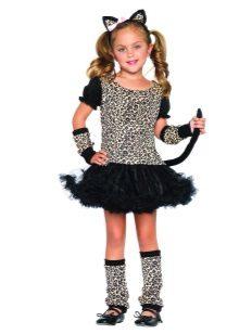 Vestido de Natal para meninas Catwoman