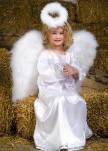 Vestido de ano novo anjo para a menina