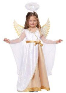 Vestido longo de ano novo anjo para a menina