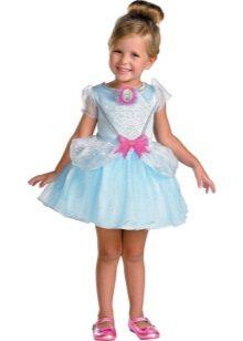 Vestido curto de ano novo Cinderela para uma menina
