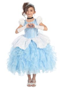 Vestido de ano novo a Cinderela para a garota magnífica
